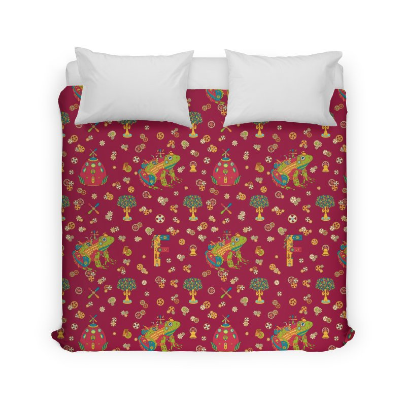 Frog, cool art from the AlphaPod Collection Home Duvet by AlphaPod