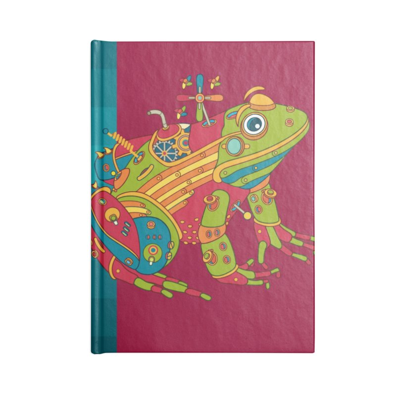 Frog, cool art from the AlphaPod Collection Accessories Lined Journal Notebook by AlphaPod