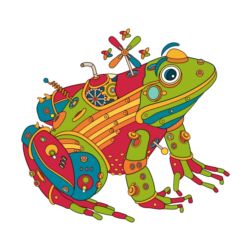 Frog, cool art from the AlphaPod Collection Women's Longsleeve T-Shirt by AlphaPod
