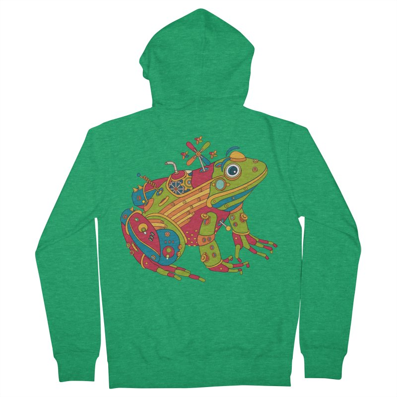 Frog, cool art from the AlphaPod Collection Men's Zip-Up Hoody by AlphaPod