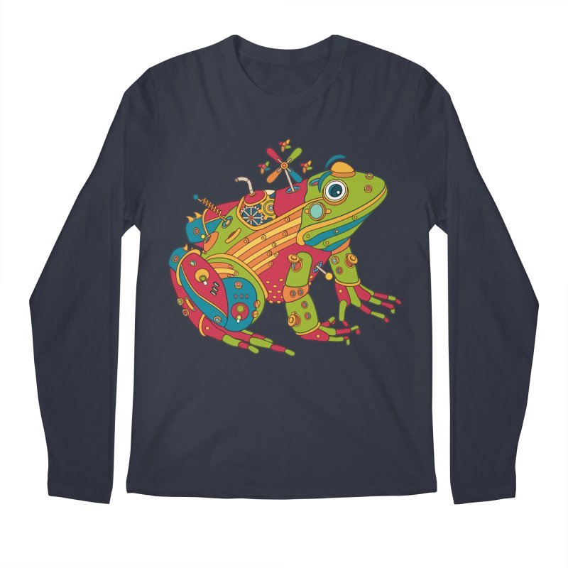 Frog, cool art from the AlphaPod Collection Men's Longsleeve T-Shirt by AlphaPod