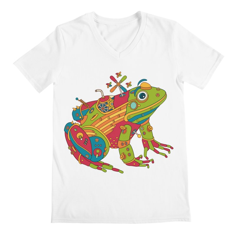 Frog, cool art from the AlphaPod Collection Men's V-Neck by AlphaPod
