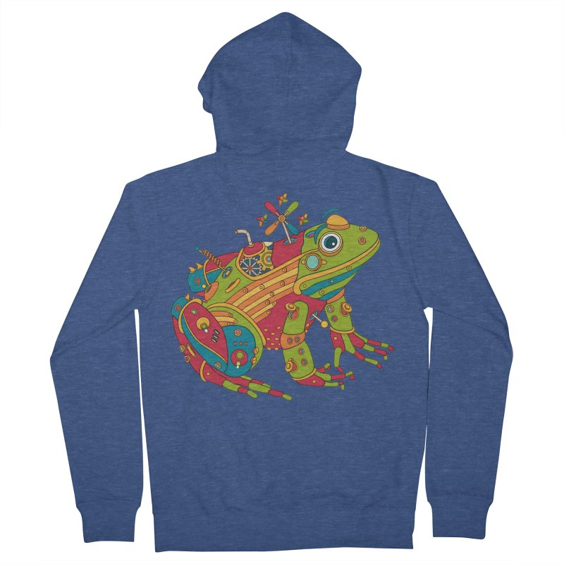 Frog, cool art from the AlphaPod Collection Men's French Terry Zip-Up Hoody by AlphaPod