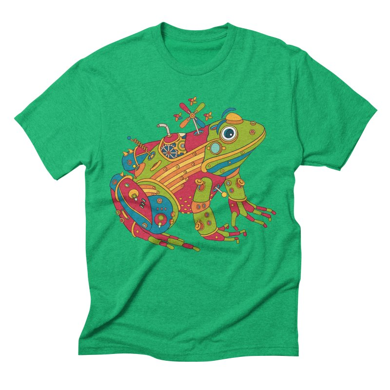 Frog, cool art from the AlphaPod Collection Men's Triblend T-Shirt by AlphaPod