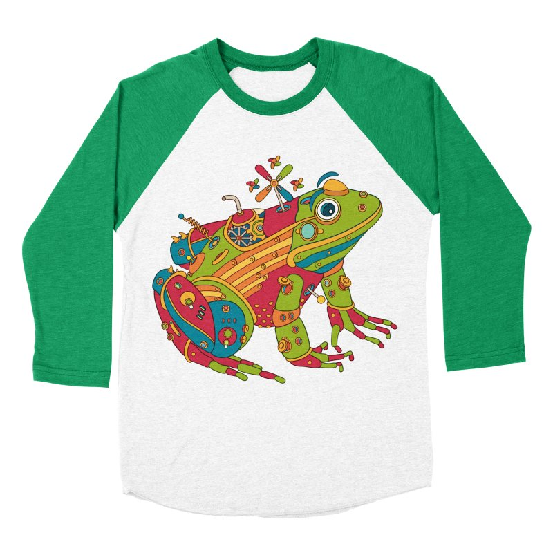 Frog, cool art from the AlphaPod Collection Women's Baseball Triblend Longsleeve T-Shirt by AlphaPod
