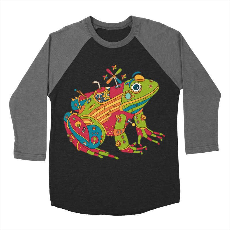 Frog, cool wall art for kids and adults alike Women's Baseball Triblend T-Shirt by AlphaPod