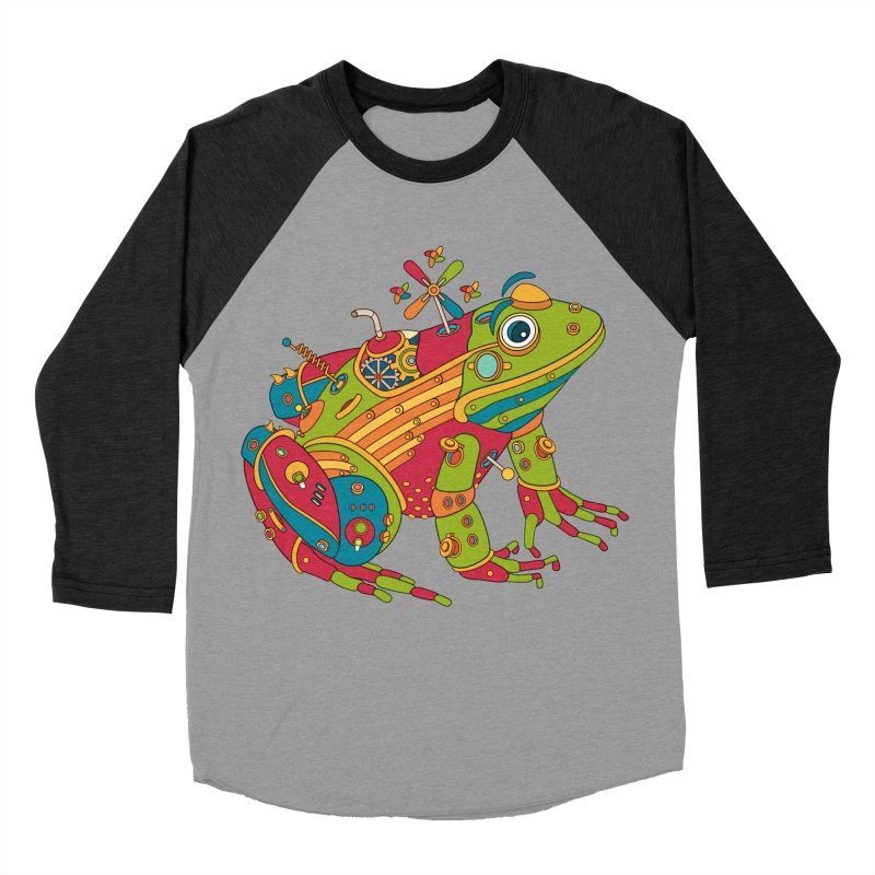 Frog, cool art from the AlphaPod Collection Women's Baseball Triblend T-Shirt by AlphaPod
