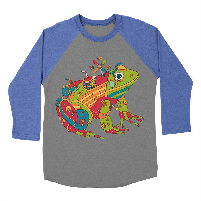 Frog, cool art from the AlphaPod Collection Men's Baseball Triblend T-Shirt by AlphaPod