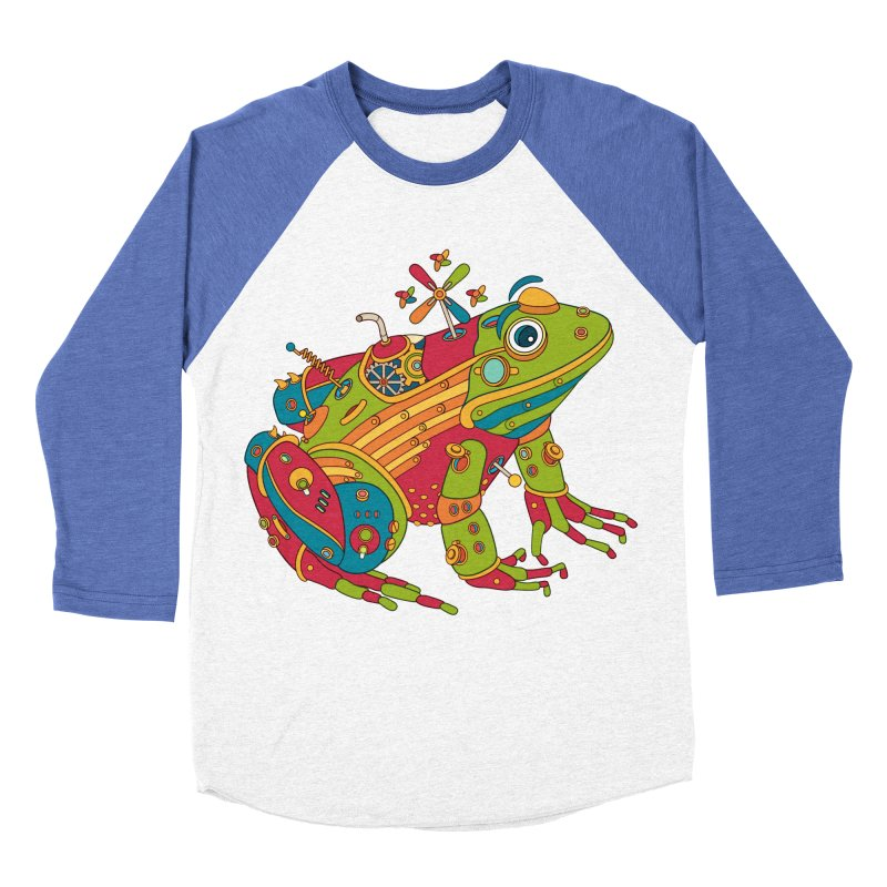 Frog, cool art from the AlphaPod Collection Men's Baseball Triblend Longsleeve T-Shirt by AlphaPod