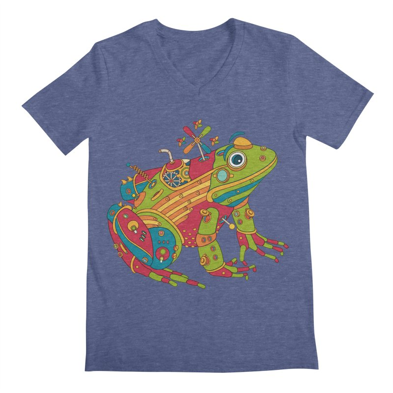 Frog, cool art from the AlphaPod Collection Men's Regular V-Neck by AlphaPod