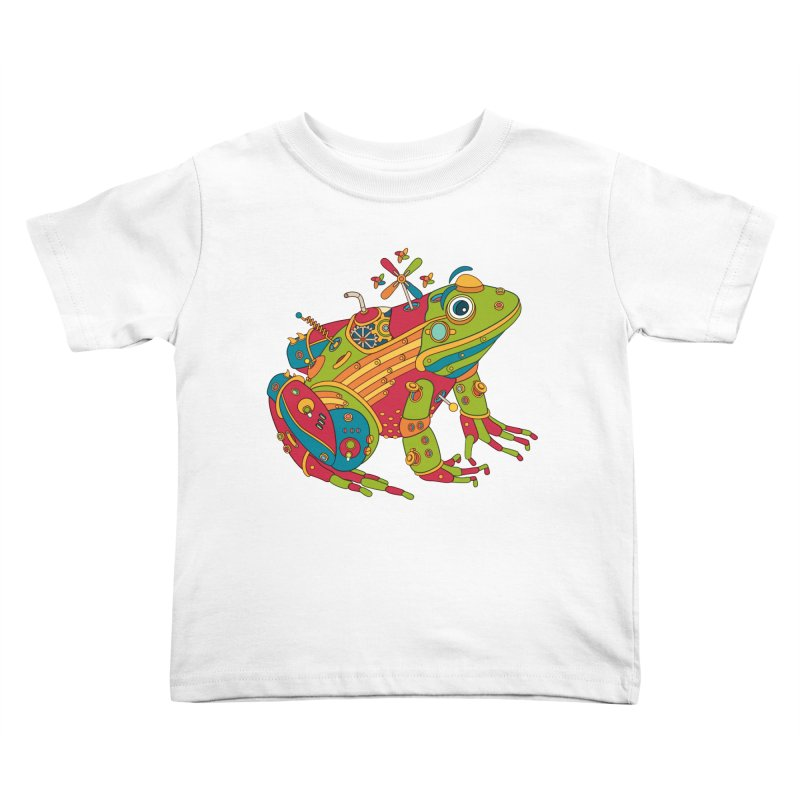 Frog, cool wall art for kids and adults alike Kids Toddler T-Shirt by AlphaPod