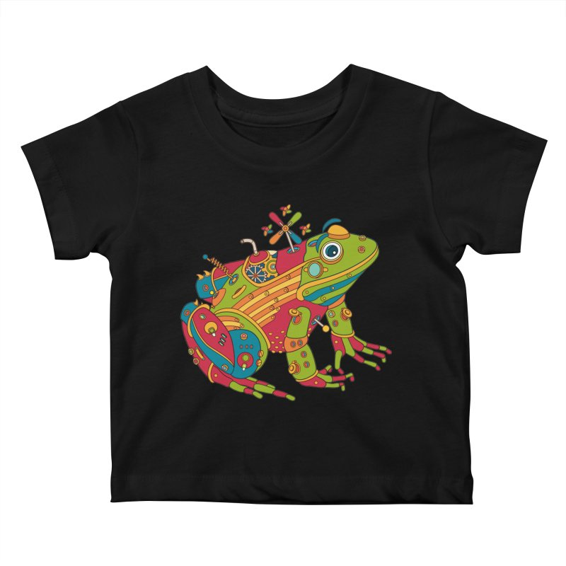 Frog, cool art from the AlphaPod Collection Kids Baby T-Shirt by AlphaPod