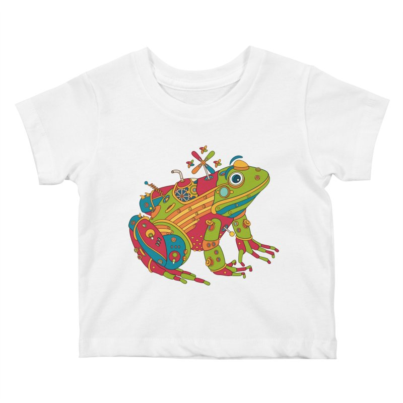 Frog, cool wall art for kids and adults alike Kids Baby T-Shirt by AlphaPod