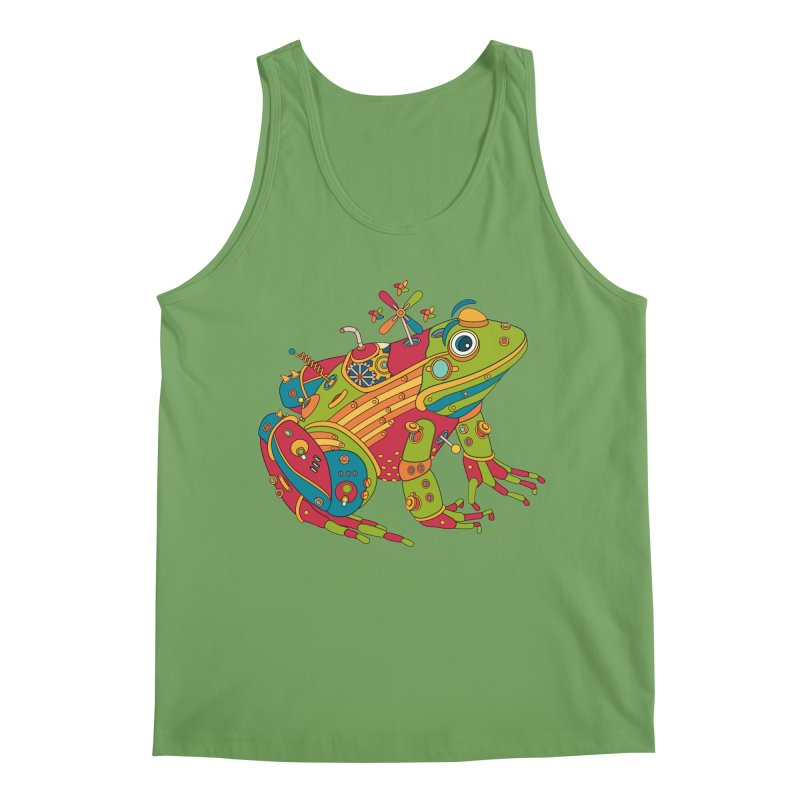 Frog, cool art from the AlphaPod Collection Men's Tank by AlphaPod