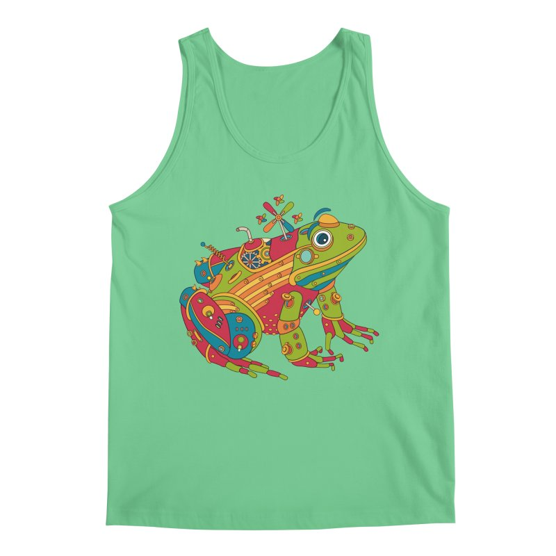 Frog, cool art from the AlphaPod Collection Men's Regular Tank by AlphaPod
