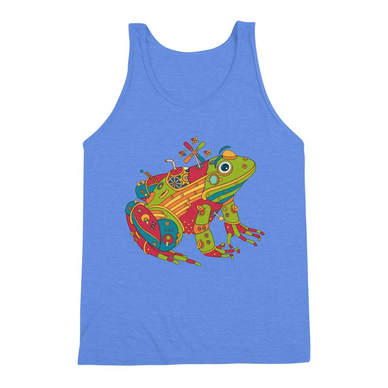 Frog, cool art from the AlphaPod Collection Men's Triblend Tank by AlphaPod
