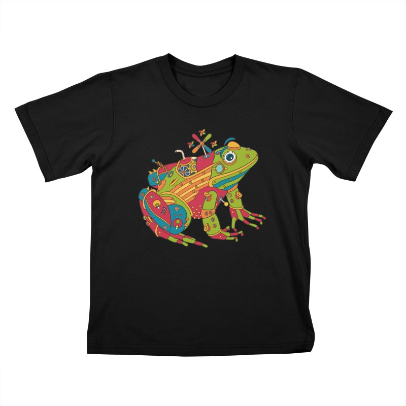 Frog, cool art from the AlphaPod Collection Kids T-Shirt by AlphaPod
