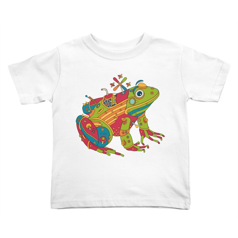 Frog, cool art from the AlphaPod Collection Kids Toddler T-Shirt by AlphaPod