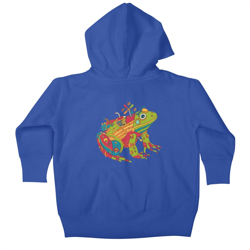 Frog, cool art from the AlphaPod Collection Kids Baby Zip-Up Hoody by AlphaPod