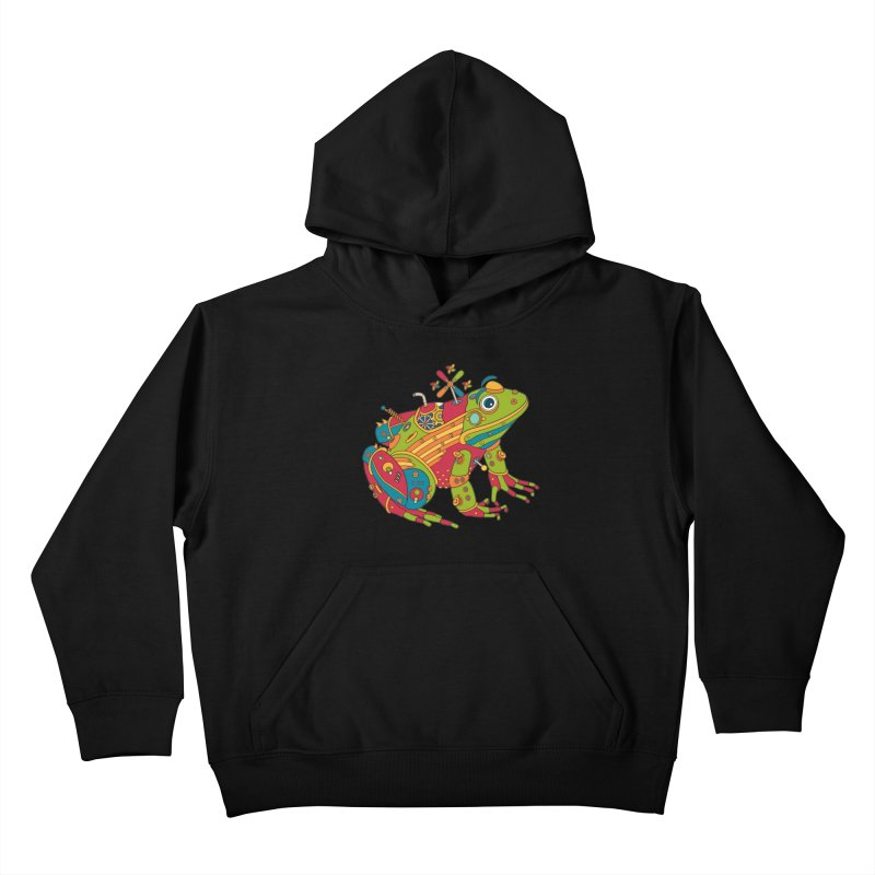 Frog, cool wall art for kids and adults alike Kids Pullover Hoody by AlphaPod