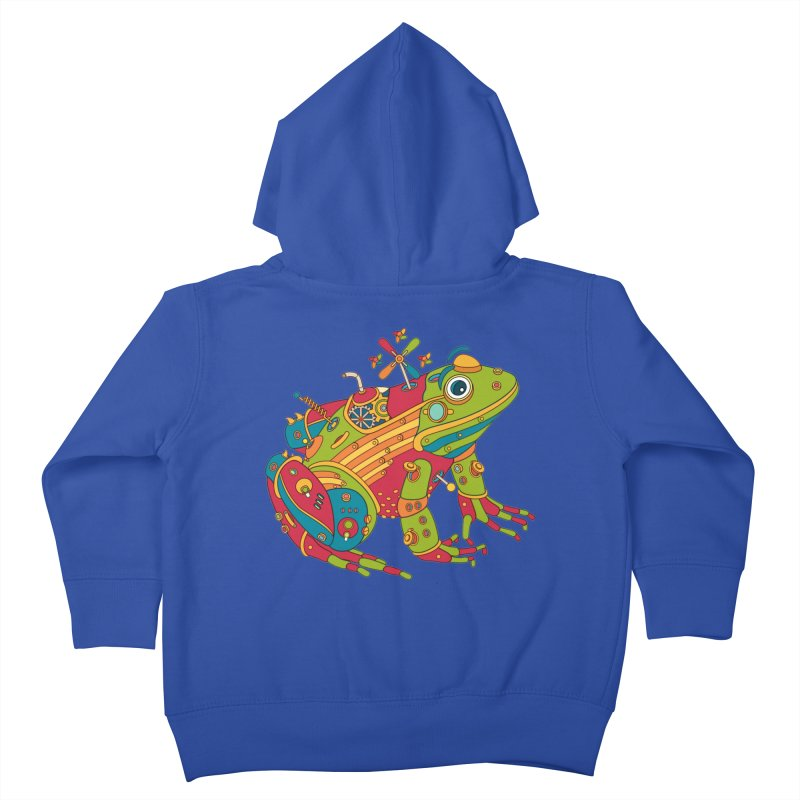 Frog, cool art from the AlphaPod Collection Kids Toddler Zip-Up Hoody by AlphaPod