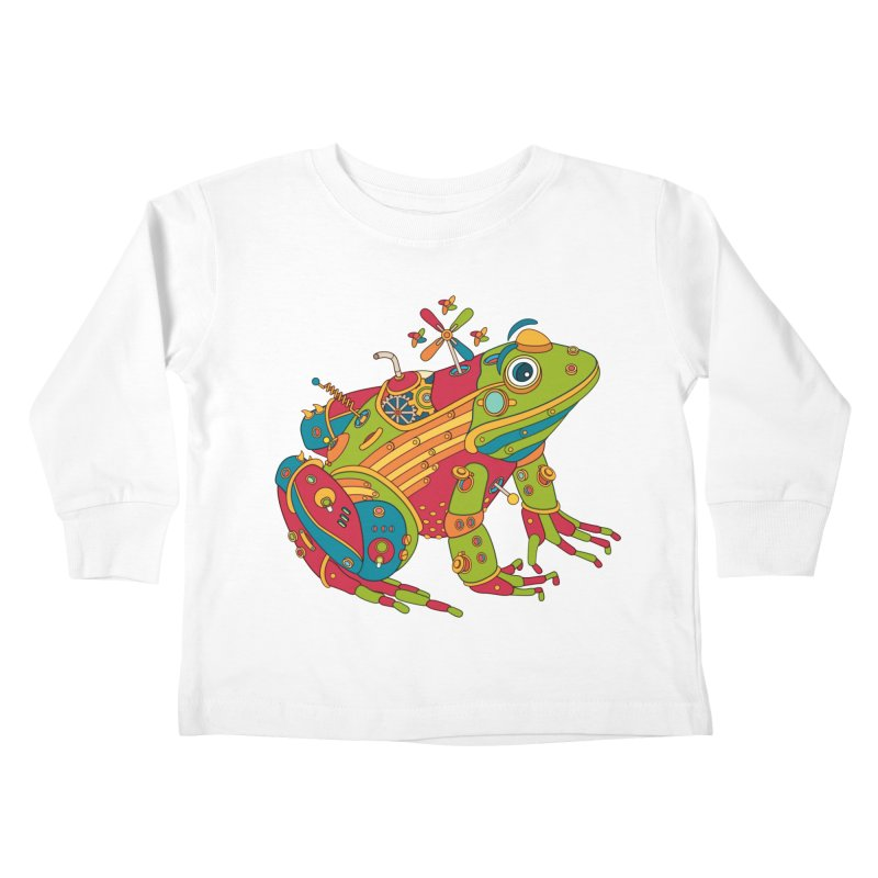 Frog, cool art from the AlphaPod Collection Kids Toddler Longsleeve T-Shirt by AlphaPod