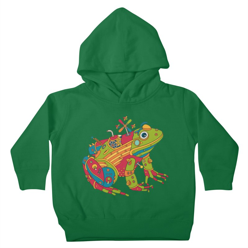 Frog, cool wall art for kids and adults alike Kids Toddler Pullover Hoody by AlphaPod