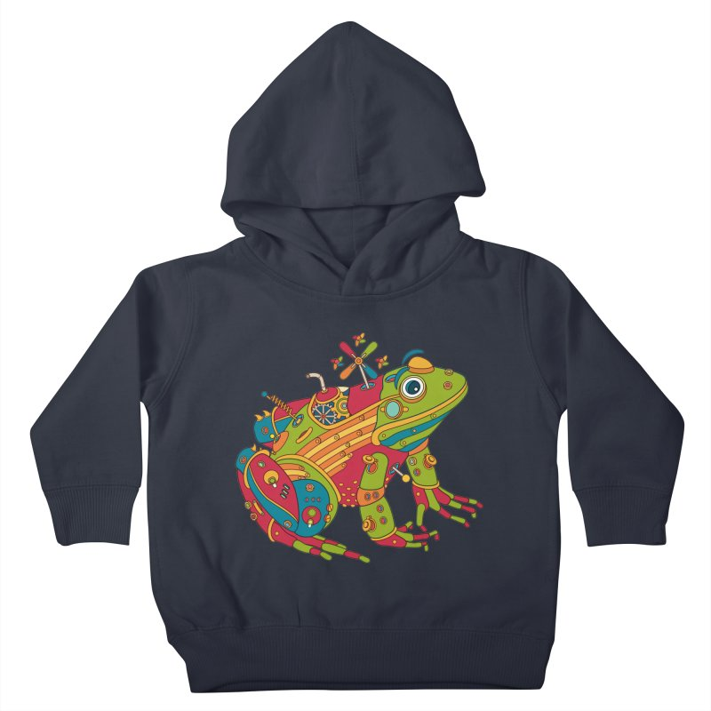 Frog, cool art from the AlphaPod Collection Kids Toddler Pullover Hoody by AlphaPod