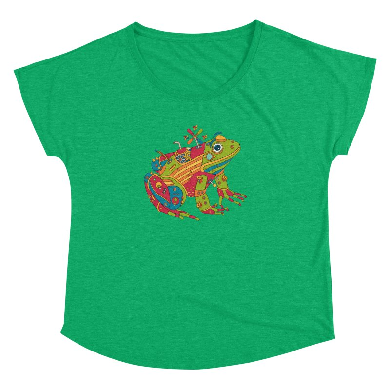 Frog, cool art from the AlphaPod Collection Women's Dolman Scoop Neck by AlphaPod