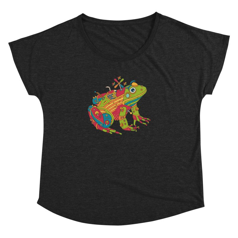 Frog, cool art from the AlphaPod Collection Women's Dolman by AlphaPod