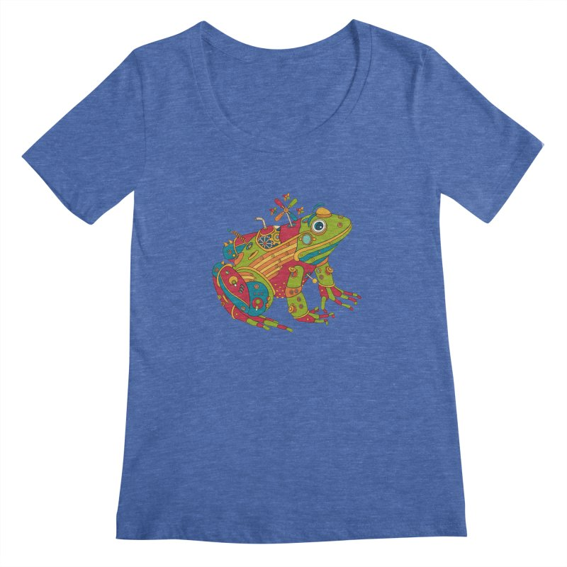 Frog, cool art from the AlphaPod Collection Women's Regular Scoop Neck by AlphaPod
