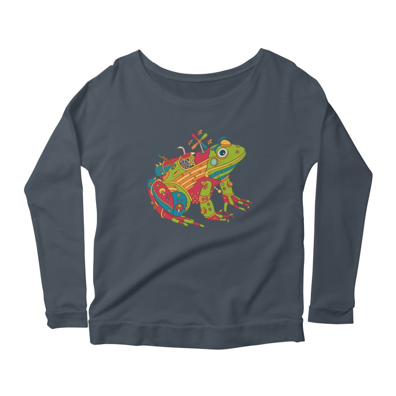 Frog, cool art from the AlphaPod Collection Women's Scoop Neck Longsleeve T-Shirt by AlphaPod