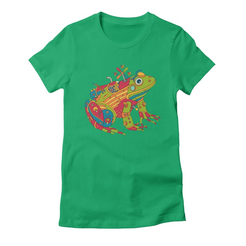 Frog, cool art from the AlphaPod Collection Women's Fitted T-Shirt by AlphaPod