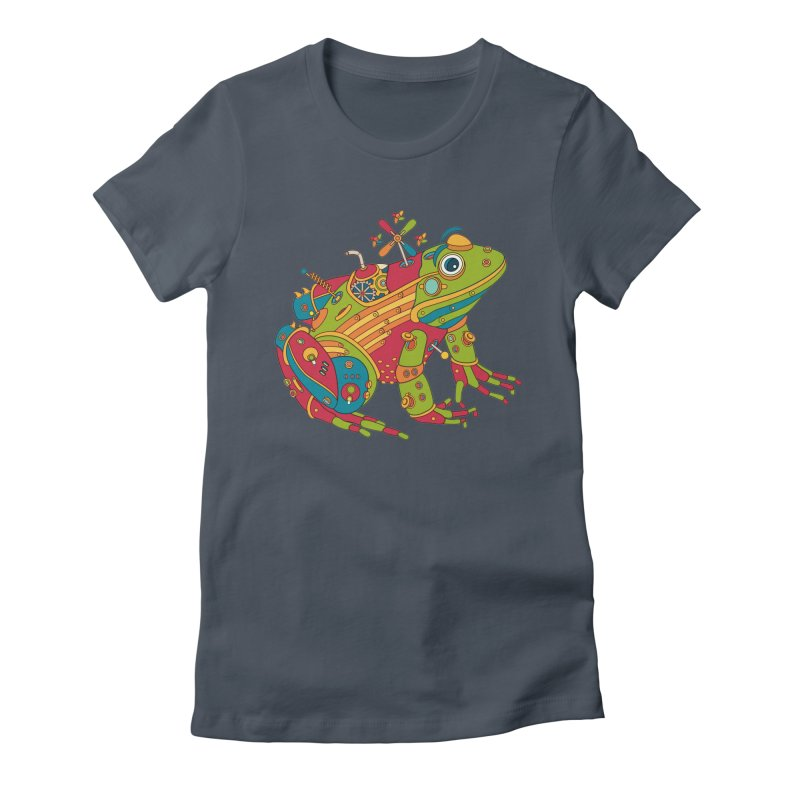 Frog, cool art from the AlphaPod Collection Women's French Terry Zip-Up Hoody by AlphaPod