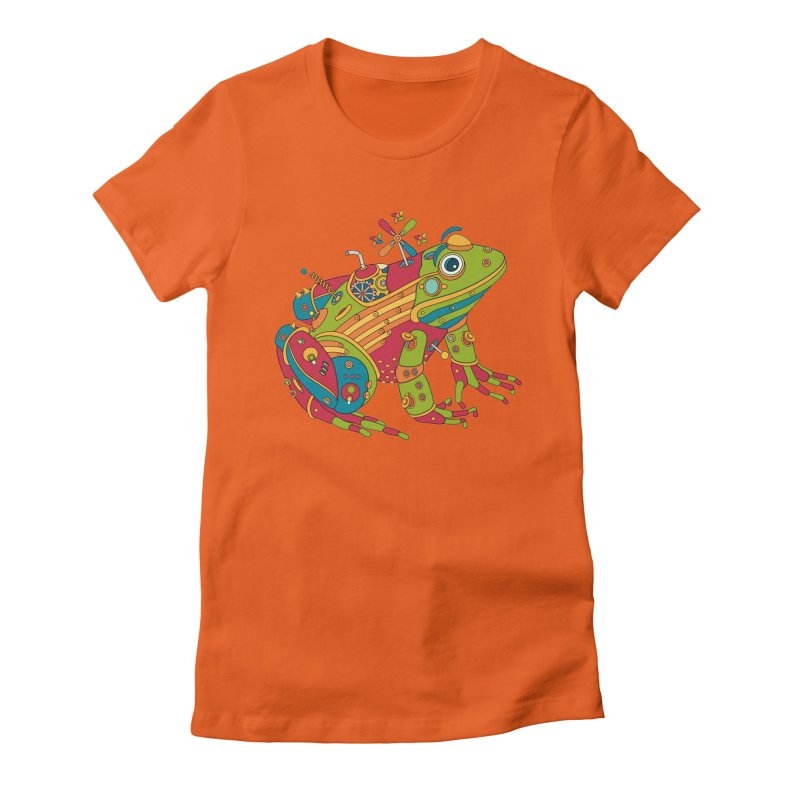 Frog, cool wall art for kids and adults alike Women's Fitted T-Shirt by AlphaPod