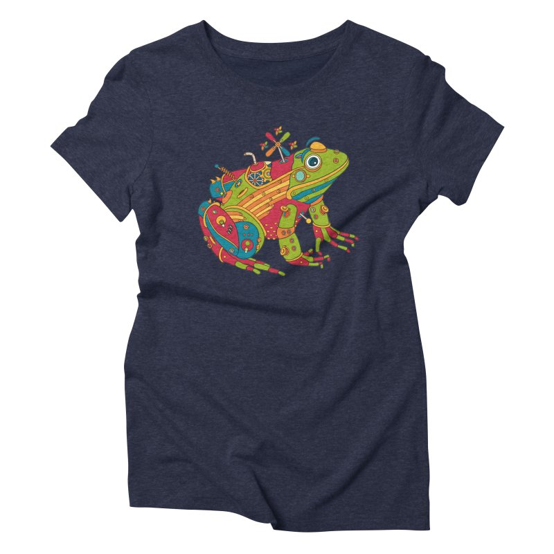 Frog, cool art from the AlphaPod Collection Women's Triblend T-Shirt by AlphaPod