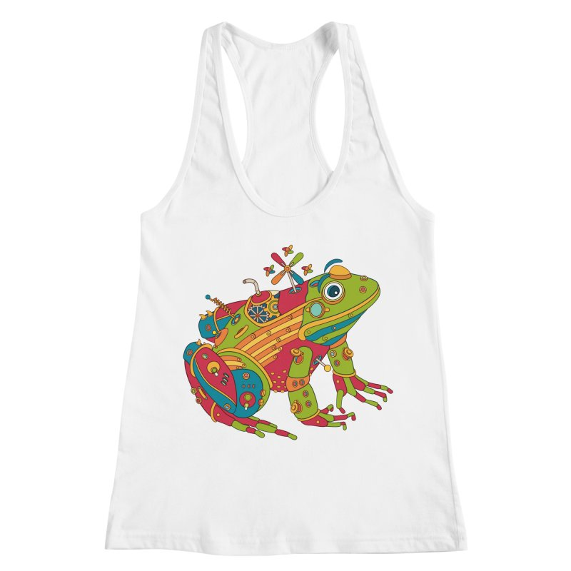 Frog, cool art from the AlphaPod Collection Women's Racerback Tank by AlphaPod