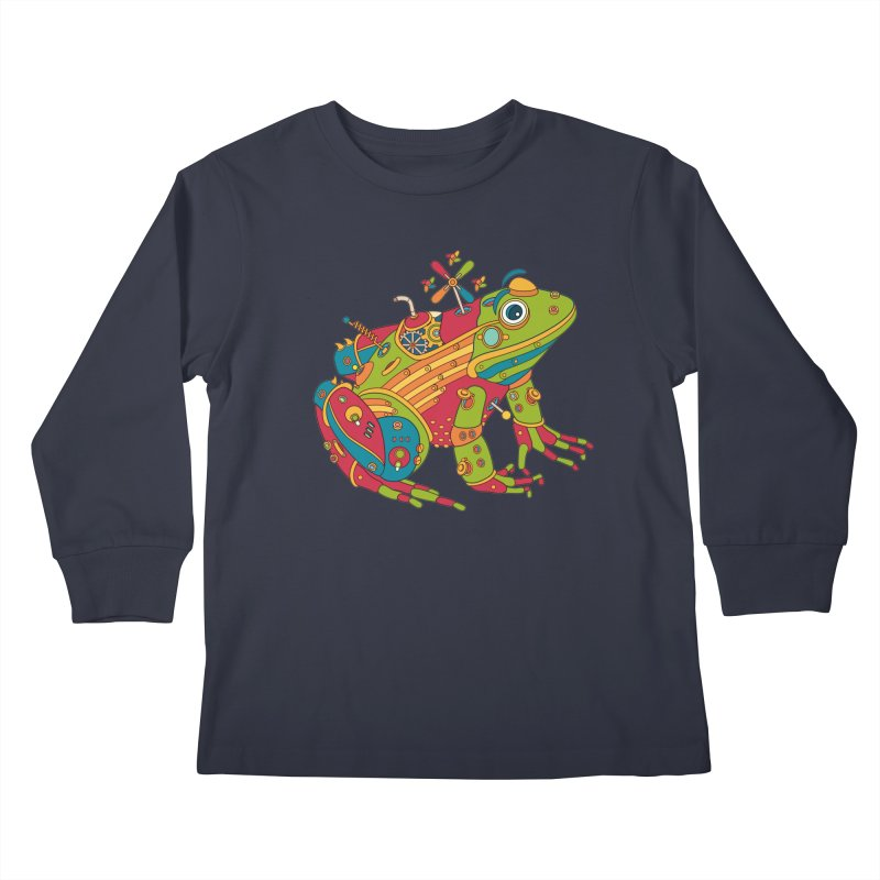 Frog, cool art from the AlphaPod Collection Kids Longsleeve T-Shirt by AlphaPod
