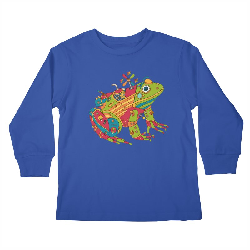 Frog, cool wall art for kids and adults alike Kids Longsleeve T-Shirt by AlphaPod