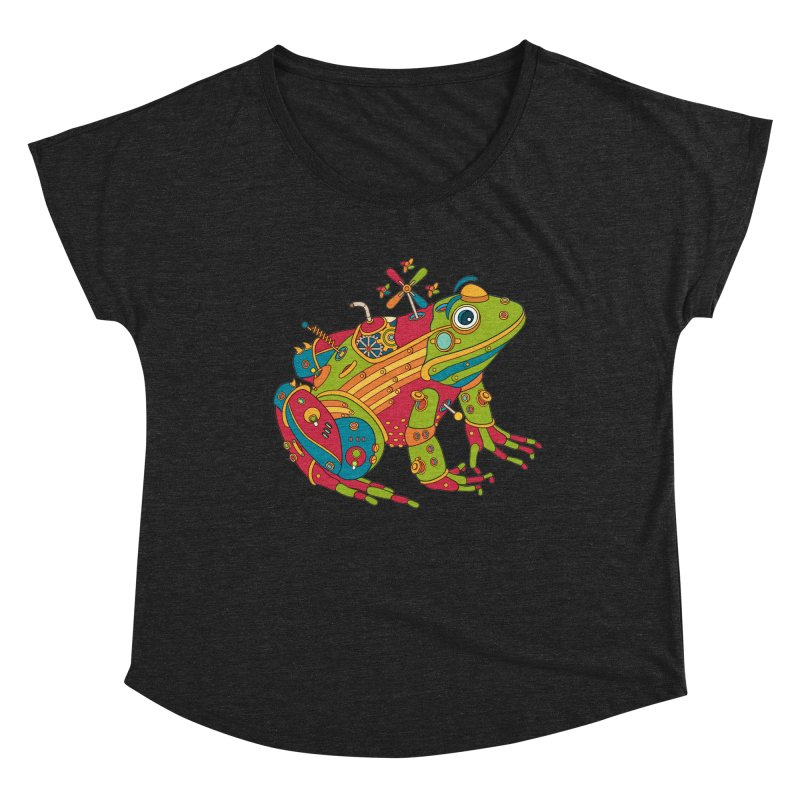 Frog, cool art from the AlphaPod Collection Women's Scoop Neck by AlphaPod