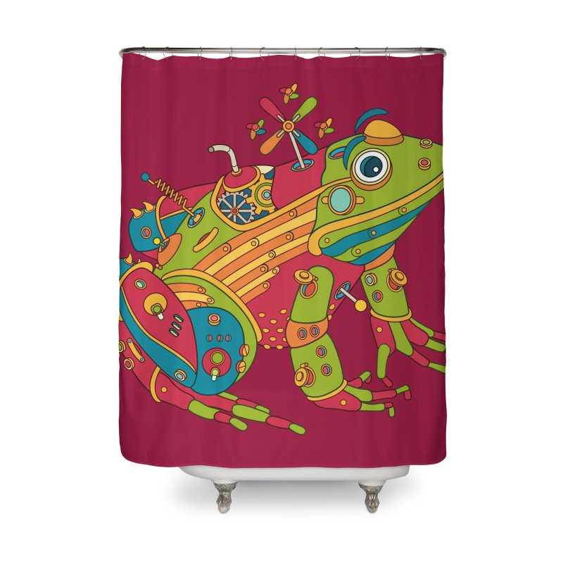 Frog, cool art from the AlphaPod Collection Home Shower Curtain by AlphaPod