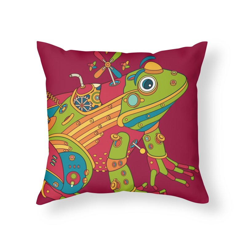 Frog, cool art from the AlphaPod Collection Home Throw Pillow by AlphaPod