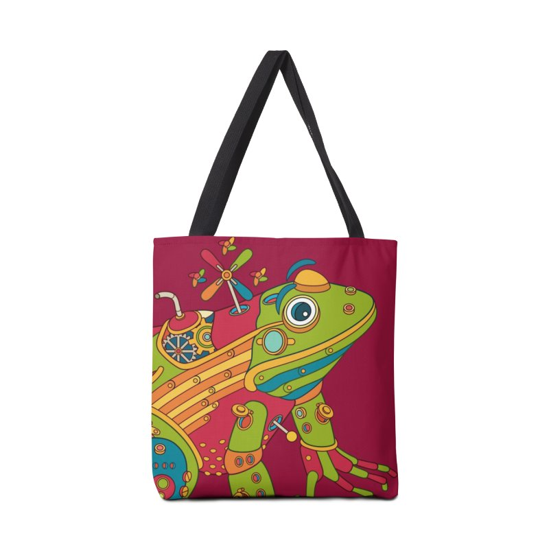 Frog, cool art from the AlphaPod Collection Accessories Tote Bag Bag by AlphaPod