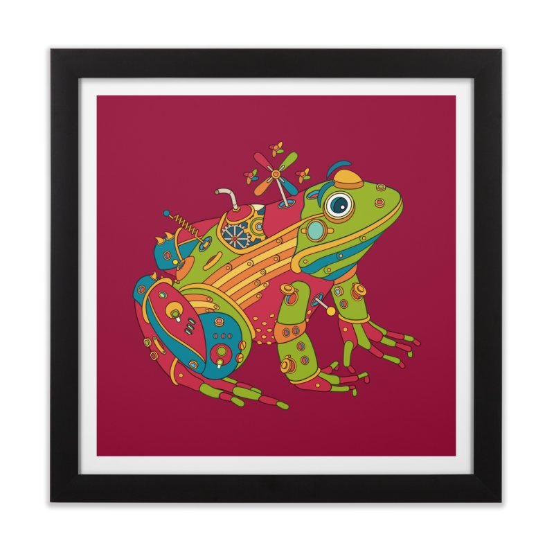 Frog, cool art from the AlphaPod Collection Home Framed Fine Art Print by AlphaPod