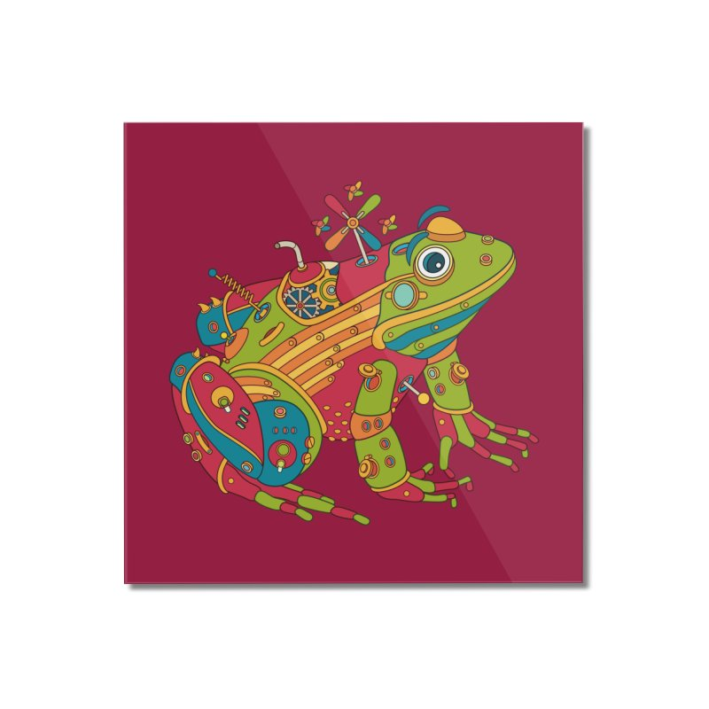 Frog, cool art from the AlphaPod Collection Home Mounted Acrylic Print by AlphaPod
