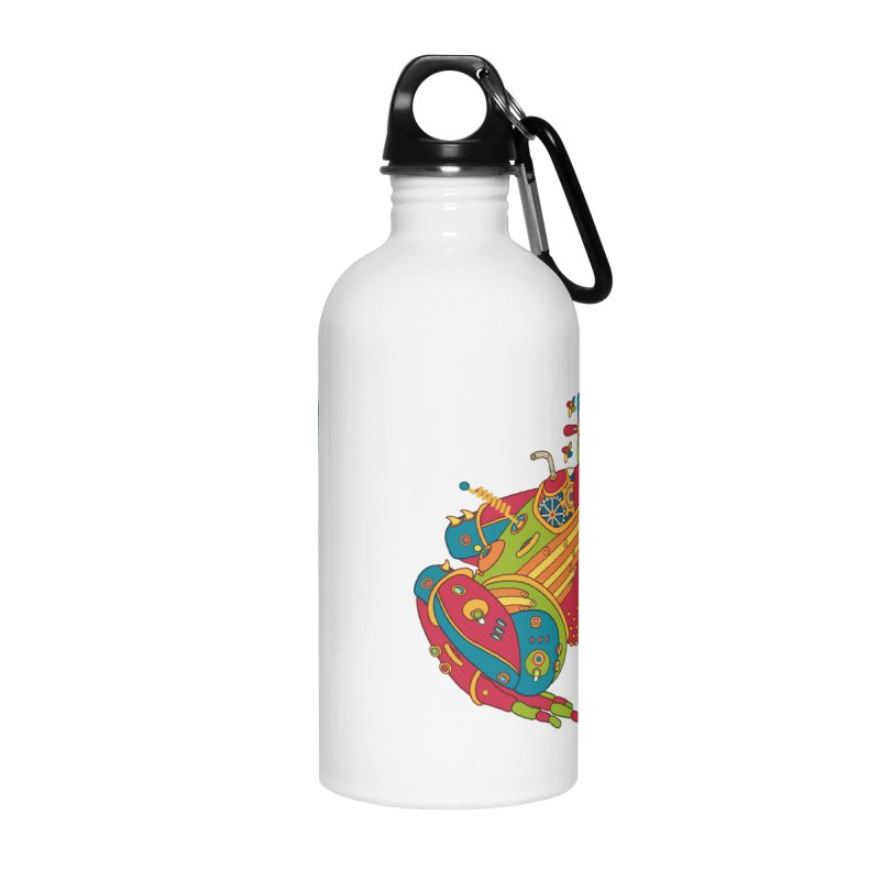Frog, cool art from the AlphaPod Collection Accessories Water Bottle by AlphaPod