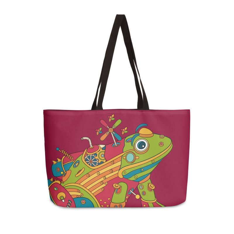 Frog, cool art from the AlphaPod Collection Accessories Weekender Bag Bag by AlphaPod