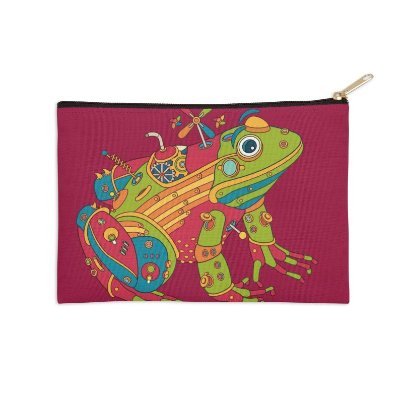 Frog, cool art from the AlphaPod Collection Accessories Zip Pouch by AlphaPod