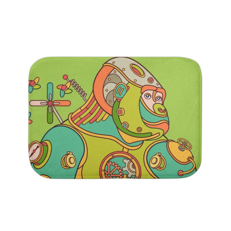 Gorilla, cool wall art for kids and adults alike Home Bath Mat by AlphaPod