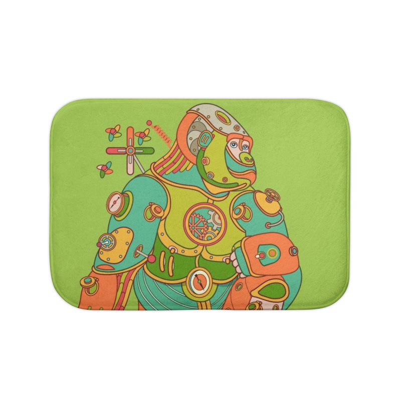Gorilla, cool art from the AlphaPod Collection Home Bath Mat by AlphaPod